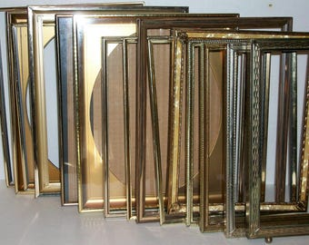 "30 Large Vintage Gold 8"" X 10"" and  5 5"" X 7""  Picture Frames Wedding Decor"