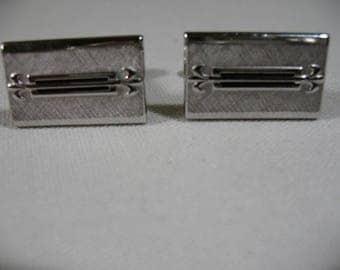 Vintage SWANK Silver Tone Cufflinks