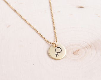 Feminist Necklace | Female Symbol Necklace | Girl Power | Feminism | Gift for Women | Dainty Necklace | Delicate Necklace |