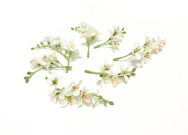 7 artificial cream white vinca clusters flower crowns diy wedding 599 izmirmasajfo Images
