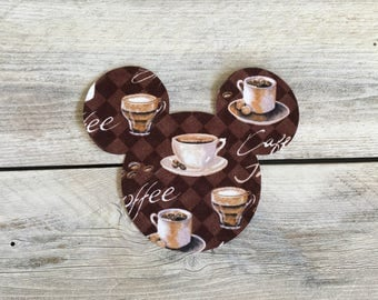 Coffee Mickey Mouse Inspired Iron On Applique