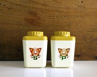 Vintage Sterilite Butterfly Salt & Pepper Shakers