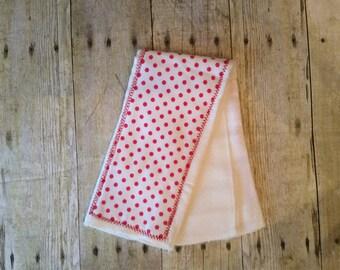 Hot pink burp cloths-girl, baby shower