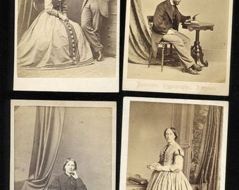 Lot of (ELEVEN) 1860s CDV Photos of Scottish / Scotland PPL