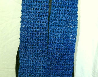 Turquoise Blue, Scarf, 104 Inches, Extra Long, Handmade,Chunky, Neckscarf, Crochet knit, Woman, Easter, Unique Mans Gift, Birthday, New