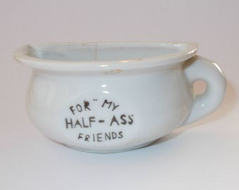 Vintage 1940's or 1950's SMALL Ceramic Half Ass Friends Mug-Occupied Japan-Holds 1/4 cup