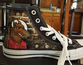 Teenage Mutant Ninja Turtles Hand painted sneakers FULL wrap of artwork  Purchase this style or let's plan your custom pair