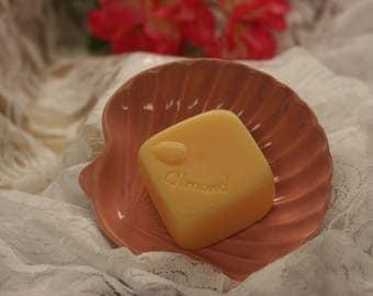 almond soap square almond glycerin soap scented in honey almond