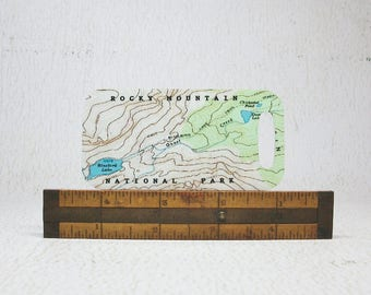 Rocky Mountain National Park Colorado Luggage Tag Backpack Tag Bag Tag Unique Gift for Hiker Explorer Traveler