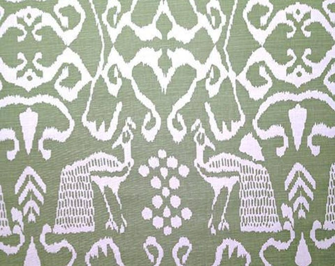 Quadrille China Seas Bali II in Barbados Green Designer Pillow Cover