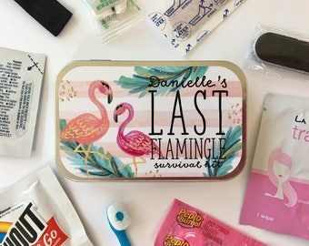 Flamingo Party, Flamingo Bachelorette Party, Flamingo Party Favor, Bachelorette Survival Kit, Last Flamingle Party Favor, Flamingo Theme