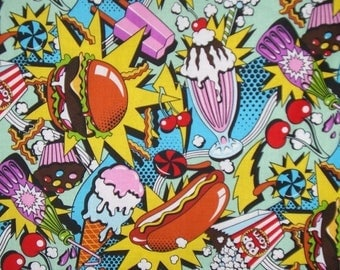 ON SALE Midnight Snack Cotton Print Fabric From Alexander Henry--By the Yard