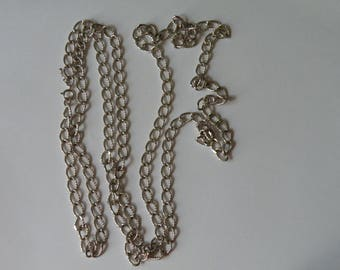 Trifari silver plated chain 60""