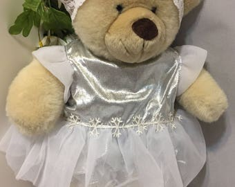 Build-a-Bear White/Silver Dancing Outfit 4 Piece Set