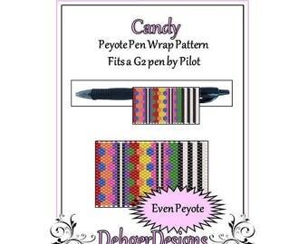 Bead Pattern Peyote(Pen Wrap/Cover)-Candy