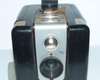 Film Camera Kodak Brownie Hawkeye Flash Model 1950s