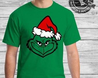 The Grinch Christmas Sparkle Vinyl Shirt- Christmas Gift, xmas shirt