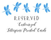 Reserved for B  Personalized Letterpress Stationery