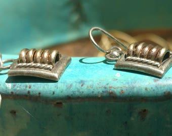 Sterling Silver Earrings, TC Earrings, Sterling copper Earrings, Earrings, Copper jewelry, southwestern Earrings, dangle Earrings, Vintage