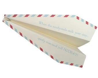 150 Personalized Paper Airplanes for a Unique Wedding Ceremony / Reception Exit Sendoff