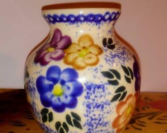 Boleslawiec Stoneware Polish Pottery Vase