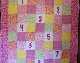 Counting Piggies Quilt and matching Pillowcase