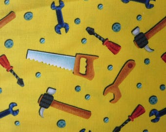Let's Build  Tools yellow - 1157-44   - Henry Glass - By Blue Fish Designs - Nidhi Wadhwa