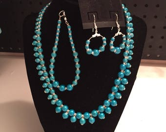 Turquoise 3 Piece Jewelry Set