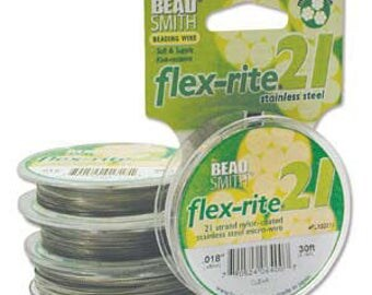 Flex-rite 21 strand size .020 Clear BeadSmith