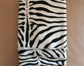 Zebra Velvet Remnant Fabric Piece