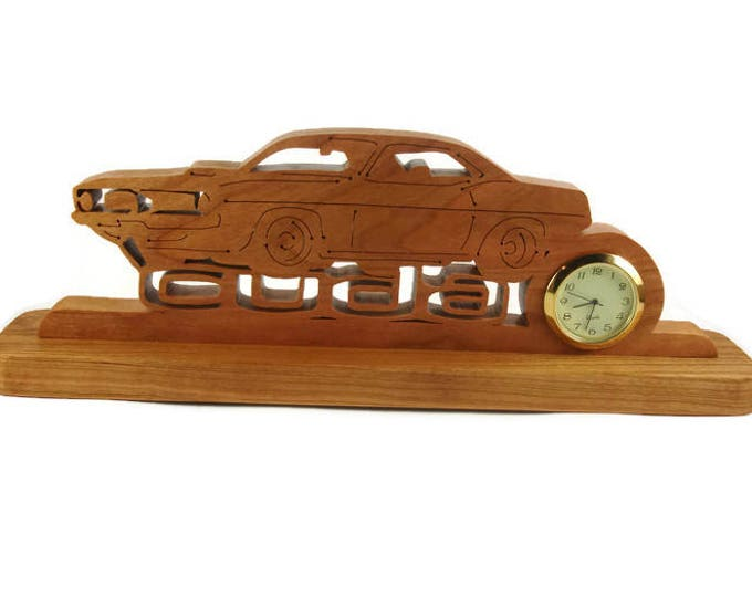 Barracuda Desk Or Shelf Art Clock Handmade From Cherry Wood By KevsKrafts