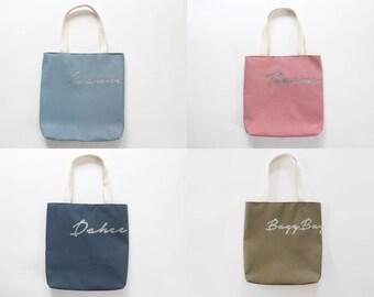 PERSONALIZED CUSTOM Bag, Monogram Bag, Gift Bag,  Personalized Tote, Customized Tote,  Design by BagyBags