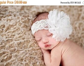 10% SALE Baby headband, newborn headband, adult headband, child headband and photography prop The single sprinkled- PURE Lace headband