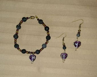 Handmade Diffuser Jewelry Earrings and Bracelet Set