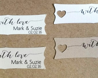Small Wedding Favor Tag, Personalized Gift Tags or Shower Favor Tags, Custom Labels, Custom Gift Card No. 32