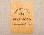 RESERVED for Jessica- Real Wood Wedding Invitations