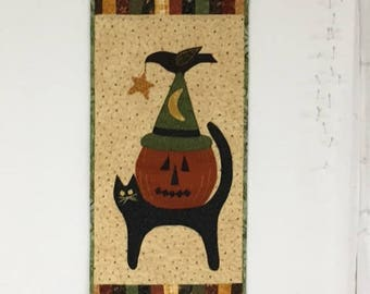Quilted Halloween Wall Hanging - C