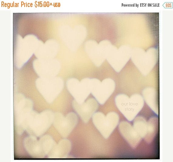 """Love photography Personalized love print """"I Love You"""" Fine Art Photography Bokeh Hearts Print, Still life Photography, Neutral art Beige"""