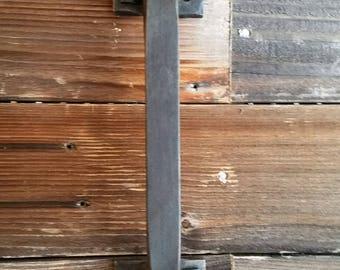 Massive hand forged industial or barn door handle