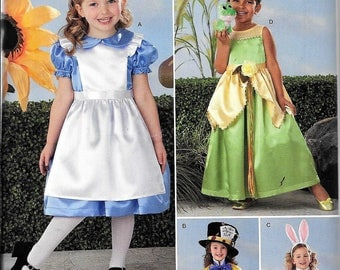 Simplicity 2330 Child's Alice in Wonderland Mad Hatter Rabbit Fairy Costumes Sewing Pattern UNCUT Size 3, 4, 5, 6, 7, 8