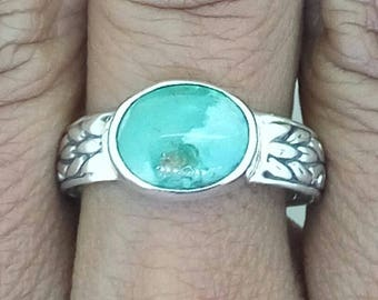 Turquoise Ring 925 Sterling Silver Jewelery Sz 9 E1168