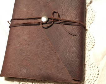 Large Soft distressed leather Art journal
