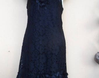 """20%OFF formal bohemian vintage gothic lace dress.....small to firm 36"""" bust...."""