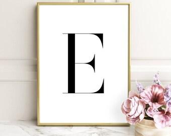 SALE -50% Letter E Monogram Alphabet Name Digital Print Instant Art INSTANT DOWNLOAD Printable Wall Decor