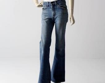 Levis 684 jeans, 1970s vintage Levis flare leg denim, 29 x 32