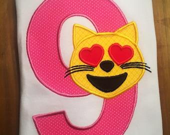 Cat Emoji Birthday Shirt