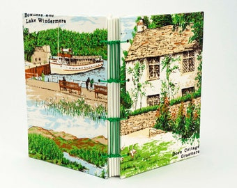 English Lake District Journal, Dove Cottage Notebook, Wordsworth, Reclaimed dishtowel, A5 Lake Windermere sketchbook