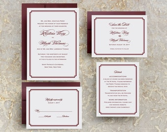Burgundy Wedding Invitations, Marsala Wedding Invitations, Marsala Invitations, Marsala Save the Dates, Table Numbers, Programs, Menus