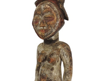 Punu Seated Female Figure Gabon African Art 120084