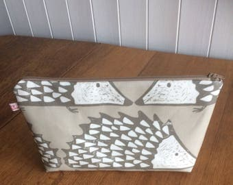 Spike the Hedgehog Cosmetic Bag-mink